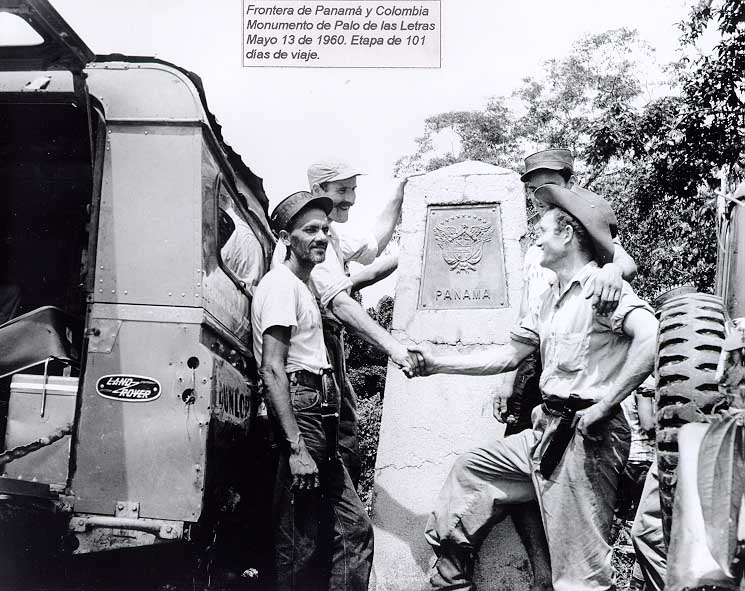 Překročení panamsko-kolumbijské hranice 13. 5. 1960