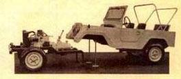 Minerva C-20 s odmontovanou samonosnou karosérií