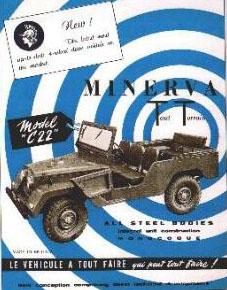 """Propagační obrázek vozu Minerva TT, Model """"C22"""""""