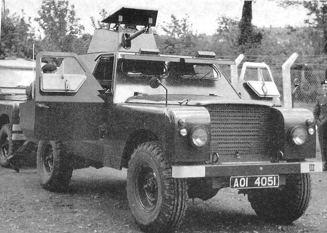 Shorland Mk. 1 těsně po převelení od RUC k UDR
