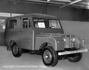 Land-Rover S1 s kabinou od firmy GRIP-Kaross