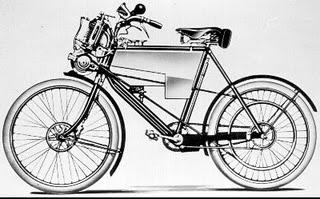 Stroj Minerva Enfield, tj. motocykl Enfield s přídavným motorem Minerva