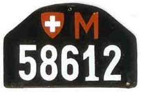 Kontrolní štítek z let 1925-1960